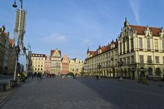 Market Square in Wrocław Royalty Free Stock Images