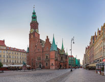 Market square in Wroclaw Stock Photos