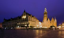The Market Square, Wroclaw in Poland Stock Photo