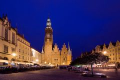 The Market Square, Wroclaw in Poland Royalty Free Stock Image