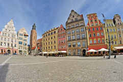 Market square, Wroclaw, Poland Royalty Free Stock Images