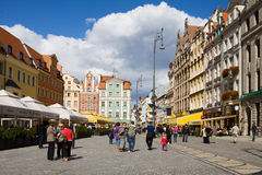 The Market square in Wroclaw, Poland Stock Image