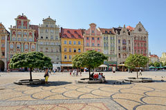 Market square, Wroclaw, Poland Royalty Free Stock Photos
