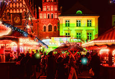 Market Square in Wroclaw, Poland Royalty Free Stock Images