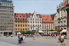 Market Square in Wroclaw - Poland. Stock Photos