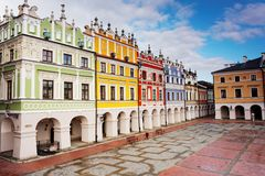 Old Town, Zamosc, Poland Stock Image