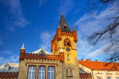 Architecture of the town hall in Swiecie, Poland. Market squere of Swiecie town in northern Poland Stock Photo