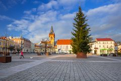 Market squere of Swiecie town. In northern Poland Royalty Free Stock Photo