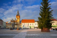Market squere of Swiecie town. In northern Poland Stock Images