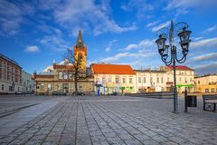 Market squere of Swiecie town. In northern Poland Stock Photography