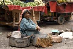 On the market, Srinagar, Kashmir, India Royalty Free Stock Photo