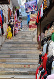 Market on the Stairs Stock Photography