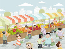Market stall Vector Illustration