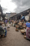 Market Stall in Arusha in vertical royalty free stock image