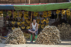 Market stall - Bagan - Myanmar (Burma) Stock Photography