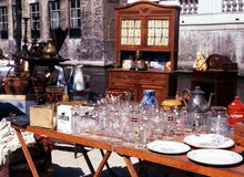 Market stall, Bruges. Royalty Free Stock Images
