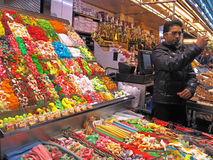 Market stall with candies Stock Photos