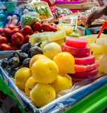 Market stall with candys in Coyoacan, Mexico City Royalty Free Stock Photography