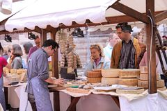 Market  stall with cheese in Verona Stock Image
