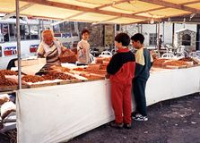 Market Stall, Cyprus. Royalty Free Stock Photos