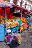 Market stall in Ecuador Royalty Free Stock Photography