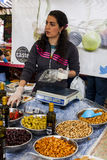 Market Stall at Food Festival Stock Photo