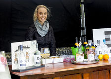 Market Stall at Food Festival Royalty Free Stock Photography
