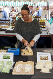 Market Stall at Food Festival Stock Image