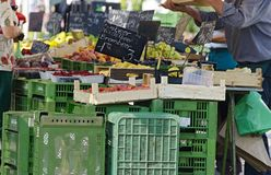 Market stall for fruits Stock Images