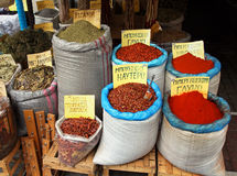 Spices market Stock Images