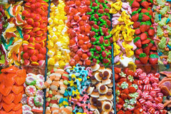 Market stall full of candys Royalty Free Stock Photography
