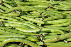 On a market stall green beans very beautiful Royalty Free Stock Photos