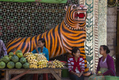 Market Stall Tiger - Mount Popa - Myanmar (Burma) Stock Photography