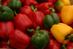 Market stall peppers Royalty Free Stock Photos