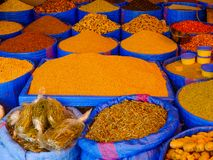 A Market Stall Selling Spices royalty free stock images