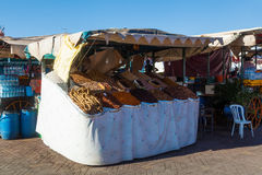 Market stall on the square Djema el Fnaa in Marrakesh Royalty Free Stock Photography