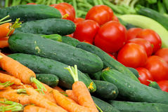Market stall for vegetable Royalty Free Stock Photo
