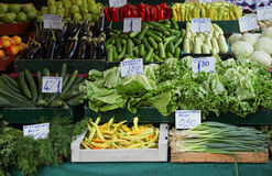 Market stall vegetables royalty free stock photography