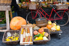 Market stall with vegetables Royalty Free Stock Image