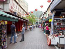 Market stalls at Singapore's chinatown Royalty Free Stock Photography