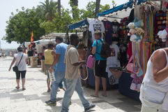 Market stalls in Torrevieja, Spain Stock Photo