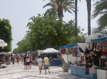 Market stalls in Torrevieja Royalty Free Stock Photos