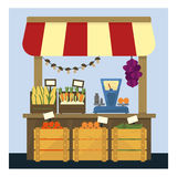 Market Stand With Fresh Vegetables Stock Image