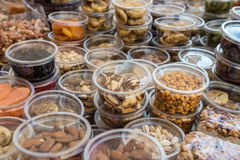 Market stand with nuts Stock Image