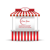 Market stand stall for promotion sale. Shopping. Cart. Business store, showcase and kiosk, marketplace mobile, vector illustration royalty free illustration