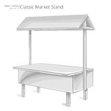 Market Stand. Royalty Free Stock Photos