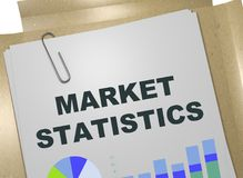 MARKET STATISTICS concept. 3D illustration of MARKET STATISTICS title on business document Stock Photos