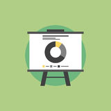 Market statistics flat icon illustration Royalty Free Stock Images
