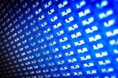Market stats on computer screen. Finance data on computer screen. Stock market on-line Stock Image