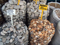 Market of stones Royalty Free Stock Photography